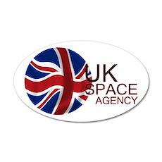 United Kingdom Space Agency 20X12 Oval Wall Decal