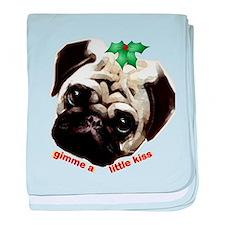 Christmas Pug baby blanket