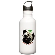 Christmas Pug Water Bottle