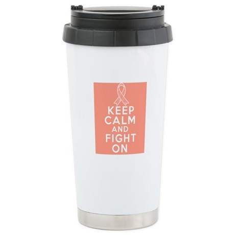 Uterine Cancer Keep Calm Fight On Ceramic Travel M