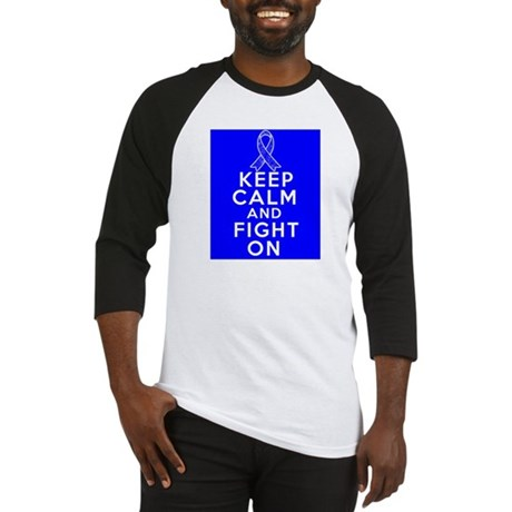 Anal Cancer Keep Calm Fight On Baseball Jersey
