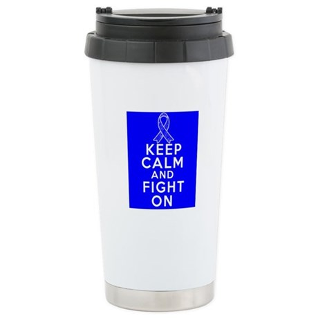 Anal Cancer Keep Calm Fight On Ceramic Travel Mug