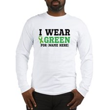 Personalize I Wear Green Long Sleeve T-Shirt