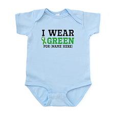 Personalize I Wear Green Infant Bodysuit