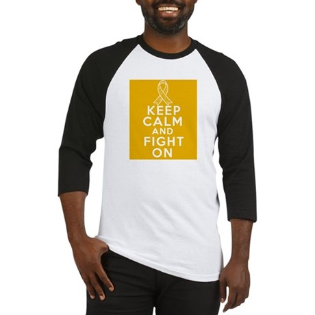 Appendix Cancer Keep Calm Fight On Baseball Jersey