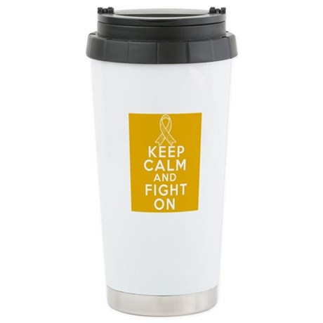 Appendix Cancer Keep Calm Fight On Ceramic Travel