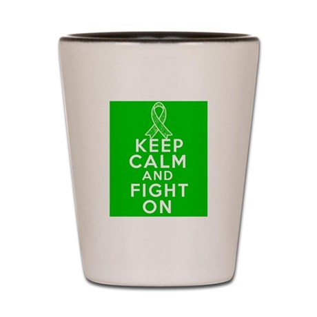 Bile Duct Cancer Keep Calm Fight On Shot Glass