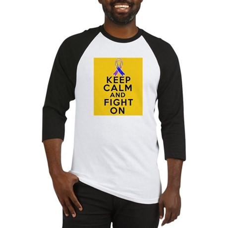 Bladder Cancer Keep Calm Fight On Baseball Jersey