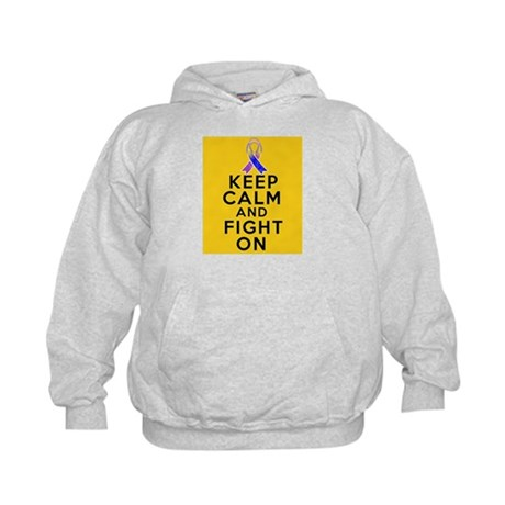 Bladder Cancer Keep Calm Fight On Kids Hoodie