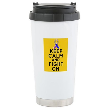 Bladder Cancer Keep Calm Fight On Ceramic Travel M