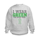 Custom I Wear Green Ribbon Sweatshirt