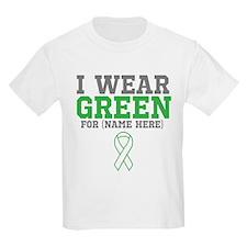 Custom I Wear Green Ribbon T-Shirt