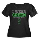 Custom I Wear Green Ribbon Women's Plus Size Scoop