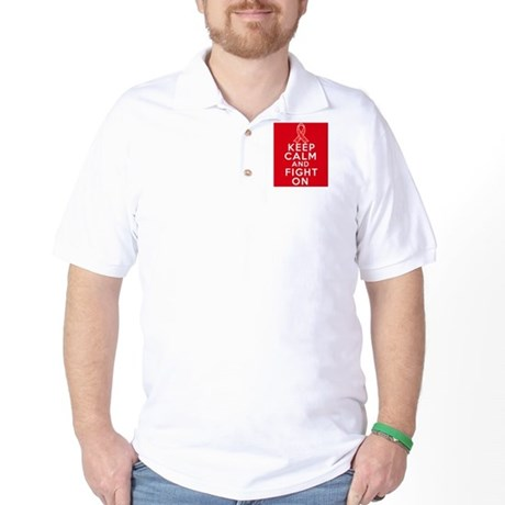 Blood Cancer Keep Calm Fight On Golf Shirt