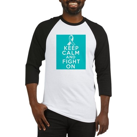 Cervical Cancer Keep Calm Fight On Baseball Jersey
