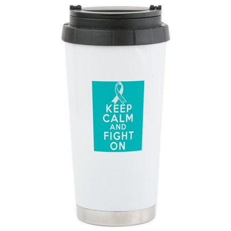 Cervical Cancer Keep Calm Fight On Ceramic Travel
