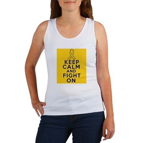 Childhood Cancer Keep Calm Fight On Women's Tank T