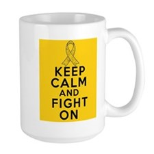 Childhood Cancer Keep Calm Fight On Mug