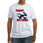 Political Snakes on a Plane Fitted T-Shirt