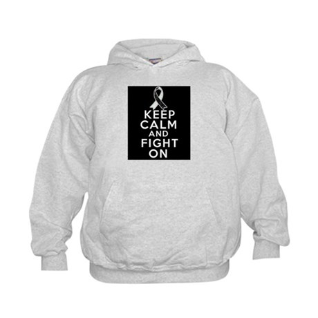 Carcinoid Cancer Keep Calm Fight On Kids Hoodie
