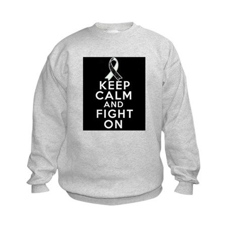 Carcinoid Cancer Keep Calm Fight On Kids Sweatshir