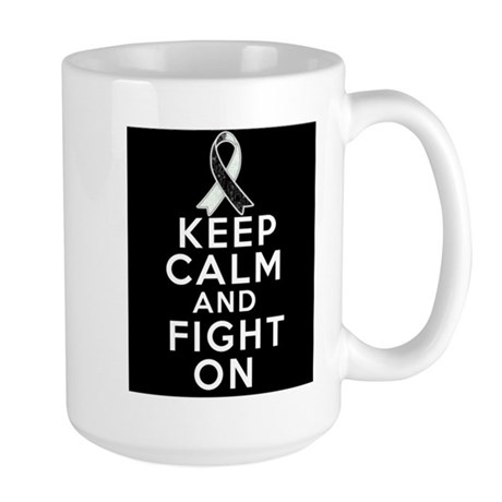 Carcinoid Cancer Keep Calm Fight On Large Mug