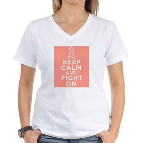 Endometrial Cancer Keep Calm Fight On Women's V-Ne