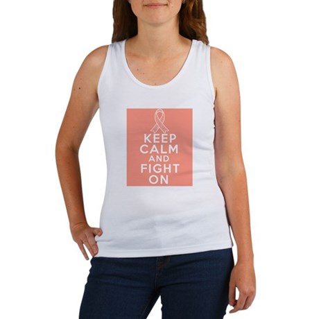 Endometrial Cancer Keep Calm Fight On Women's Tank