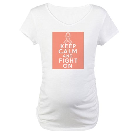 Endometrial Cancer Keep Calm Fight On Maternity T-