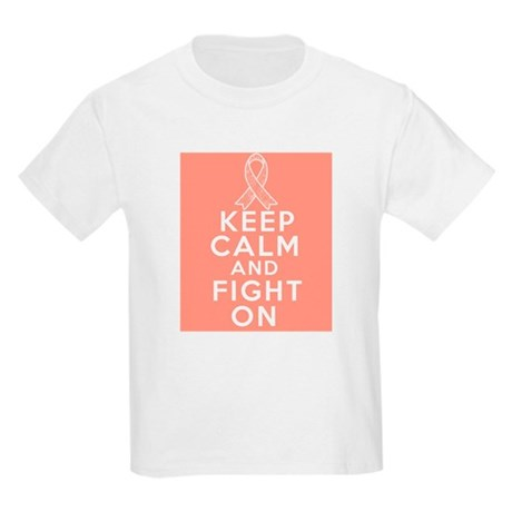 Endometrial Cancer Keep Calm Fight On Kids Light T