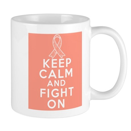 Endometrial Cancer Keep Calm Fight On Mug