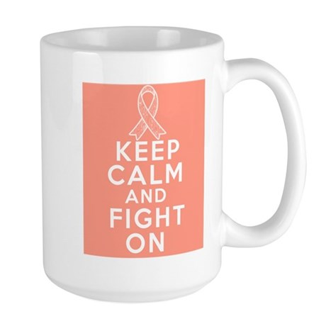 Endometrial Cancer Keep Calm Fight On Large Mug