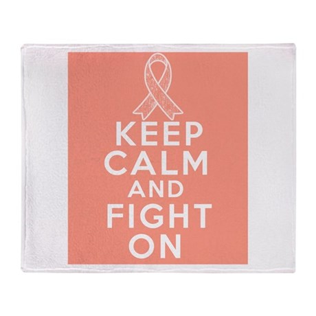 Endometrial Cancer Keep Calm Fight On Stadium Bla