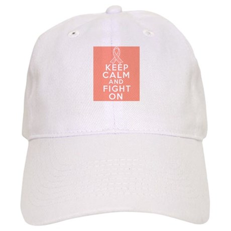 Endometrial Cancer Keep Calm Fight On Cap
