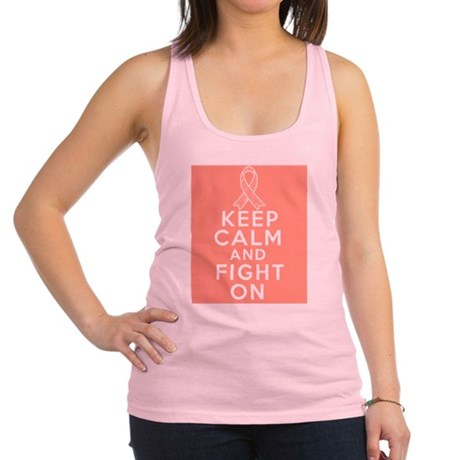 Endometrial Cancer Keep Calm Fight On Racerback Ta