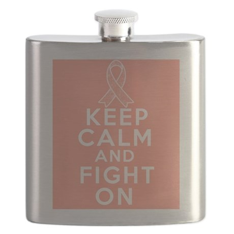 Endometrial Cancer Keep Calm Fight On Flask
