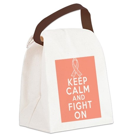 Endometrial Cancer Keep Calm Fight On Canvas Lunch