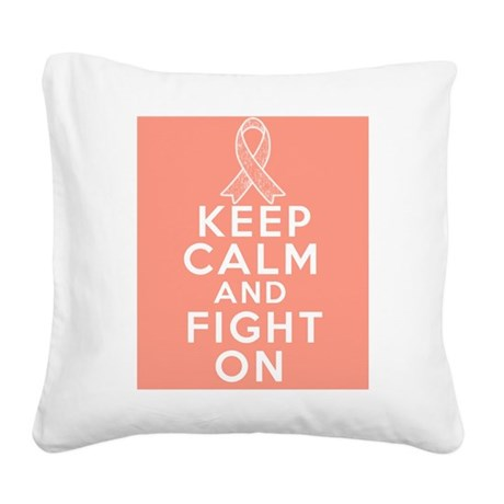 Endometrial Cancer Keep Calm Fight On Square Canva
