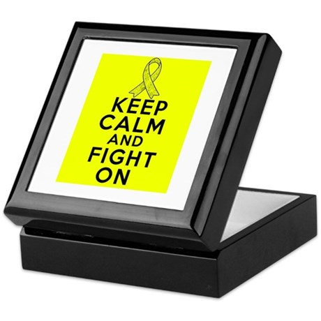 Ewings Sarcoma Cancer Keep Calm Fight On Keepsake