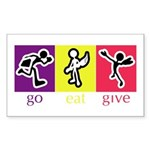 Go Eat Give logo Sticker (Rectangle)
