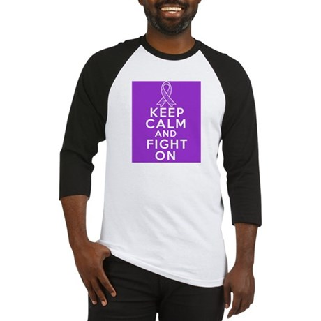 GIST Cancer Keep Calm Fight On Baseball Jersey