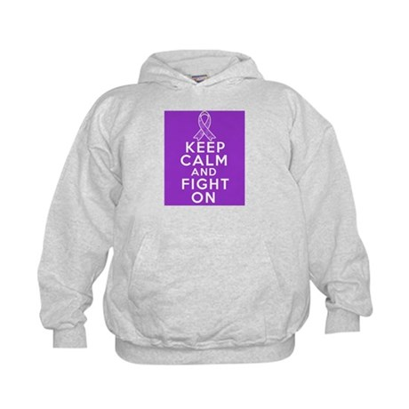 GIST Cancer Keep Calm Fight On Kids Hoodie