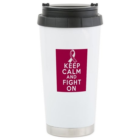 Head Neck Cancer Keep Calm Fight On Ceramic Travel