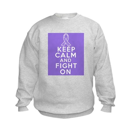 Hodgkins Lymphoma Keep Calm Fight On Kids Sweatshi