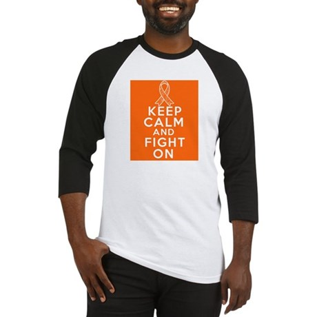 Leukemia Keep Calm Fight On Baseball Jersey