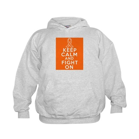 Leukemia Keep Calm Fight On Kids Hoodie