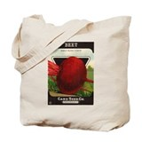 Antique Seed Packet Art Beet Tote Bag
