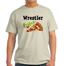 Wrestler Fueled By Pizza T-Shirt