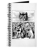 Vintage Cat Alice in Wonderland Journal
