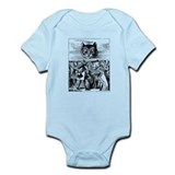 Vintage Cat Alice in Wonderland Infant Bodysuit